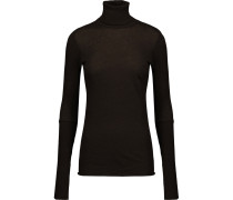 Cotton And Cashmere-blend Turtleneck Sweater Dunkelbraun