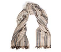 Gestreifter Schal aus Einer Kaschmir-seidenmischung