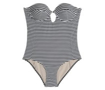 Reese cutout striped underwired swimsuit