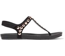 Judith crystal-embellished suede sandals