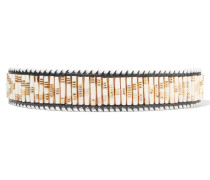 Beaded Leather Belt Beige