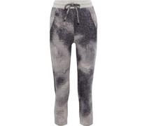 Track Pants aus Jacquard-strick aus Einer Baumwollmischung