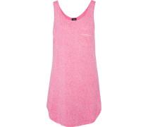 Bella Printed Cotton And Modal-blend Pajama Top Pink