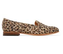 Dandy Leopard-print Suede Loafers Leoparden-Print