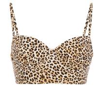 Underwire Leopard-print Bikini Top