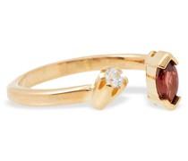 24 Kt. Vereter Ring mit Granat und Siamite®