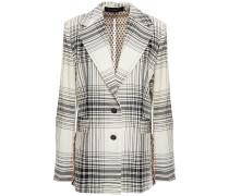 Moorehead Cutout Checked Wool Blazer