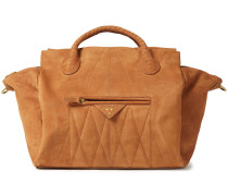 Woman Guillaume Quilted Nubuck Tote Camel