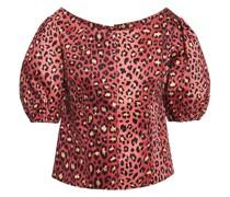 Woman Leopard-print Cotton Blouse Animal Print