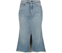 Denim Midi Skirt Mittelblauer Denim