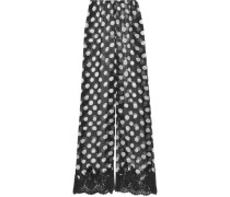 Scent of Mykonos polka-dot silk-chiffon pajama pants