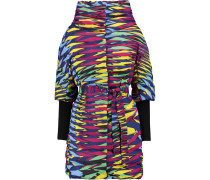 Quilted Printed Shell Coat Mehrfarbig
