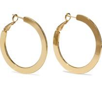 18-karat -plated Hoop Earrings