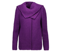 Draped Wool And Alpaca-blend Jacket Lila