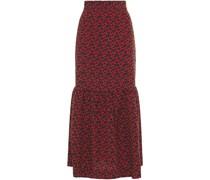 Ziga Gathe Printed Crepe De Chine Midi Skirt
