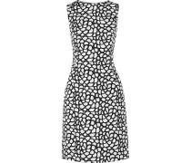 Printed Silk Dress Weiß