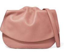 Ridge textured-leather shoulder bag