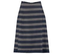 Striped Cashmere Skirt Mitternachtsblau