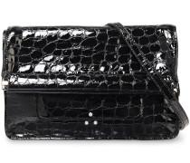 Yves Croc-effect Patent-leather Shoulder Bag