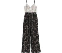 Two-tone guipure lace jumpsuit