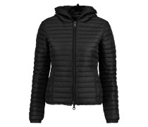 Sosandra Quilted Shell Hooded Jacket Schwarz