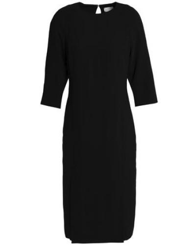 Crepe Midi Dress Black
