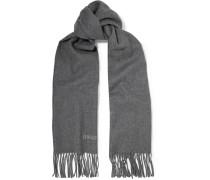 Fringed Wool-felt Scarf Grau