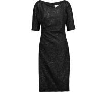 Ruched Metallic Jacquard Dress Schwarz