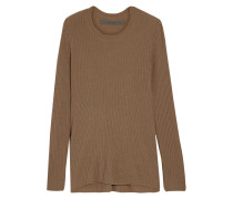 Ribbed-knit Cashmere Sweater Braun