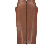 Leather Skirt Hellbraun