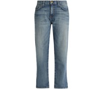 Cropped Low-rise Straight-leg Jeans