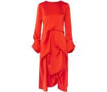 Noemi Draped Satin Midi Dress