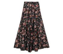 Peace metallic floral-jacquard maxi skirt