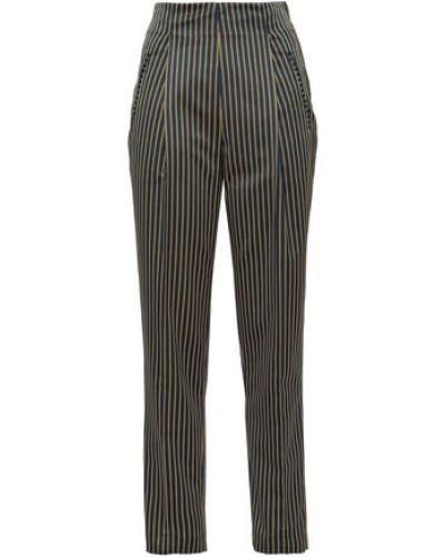Striped Faille Straight-leg Pants Multicolor