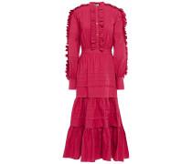 Jade Tiered Ruffle-trimmed Cotton-poplin Midi Dress