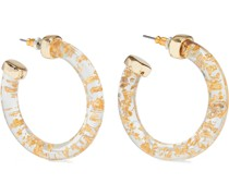 22-karat -plated Resin Hoop Earrings