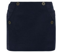 Raleigh twill-paneled shell mini skirt