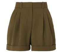 City Shorts aus Woll-twill mit Falten