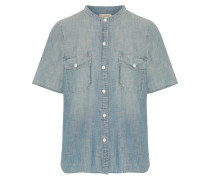 The Mandarin Denim Shirt Heller Denim