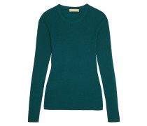 Ribbed Cashmere Sweater Petrol