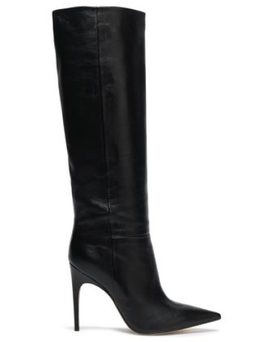 Leather Knee Boots Black