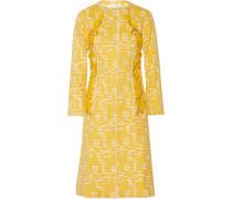 Embellished Cotton-blend Tweed Coat Gelb