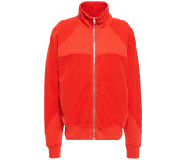 Jersey-paneled French Cotton-terry Track Jacket