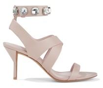 Kiddie Crystal-embellished Leather Sandals