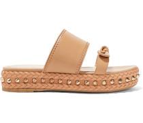 Hackney Studded Leather Platform Slides