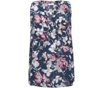Senia floral-print washed-silk top