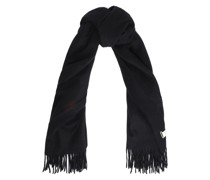 Classic Fringed Brushed-wool Scarf