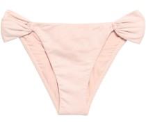 Faux Suede Low-rise Bikini Briefs