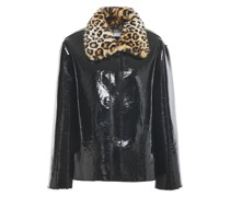 Josephine Faux Fur And Patent-leather Jacket