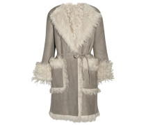 Reversible Shearling Coat Hellgrau